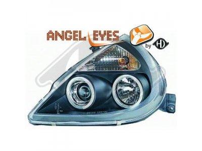 Фары передние LED Angel Eyes Black от HD для Ford KA I