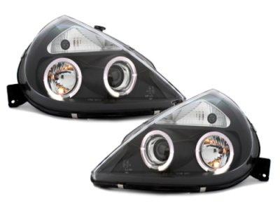 Фары передние LED Angel Eyes Black для Ford KA I