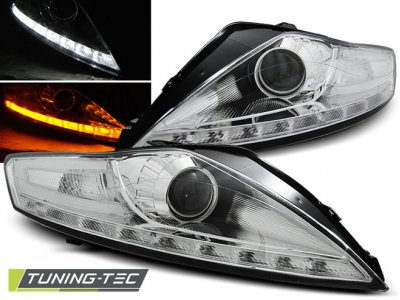 Фары передние LED Daylight Chrome для Ford Mondeo IV
