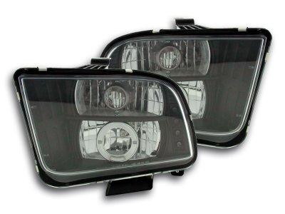 Фары передние LED Black для Ford Mustang V