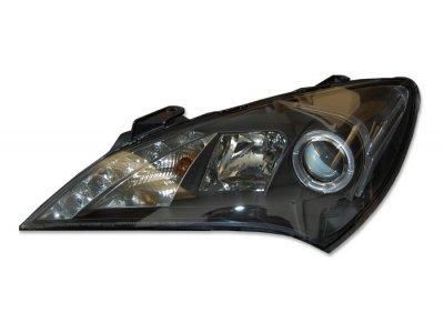 Фары передние LED Angel Eyes Black для Hyundai Genesis