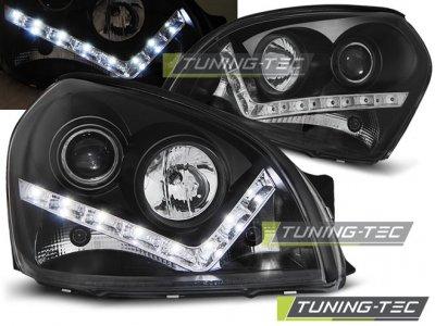 Передняя альтернативная оптика Daylight Black для Hyundai Tucson