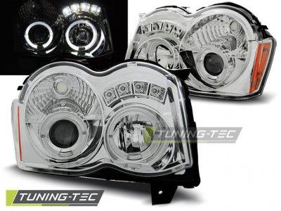 Фары передние LED Eyes Chrome для Jeep Grand Cherokee WK