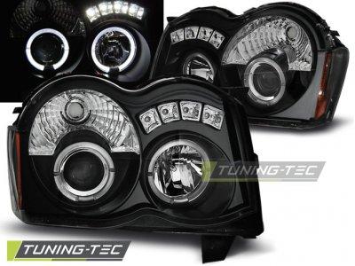 Фары передние LED Eyes Black для Jeep Grand Cherokee WK