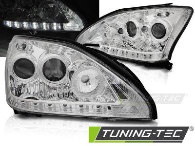 Фары передние Daylight Chrome LED для Lexus RX II 330 / 350