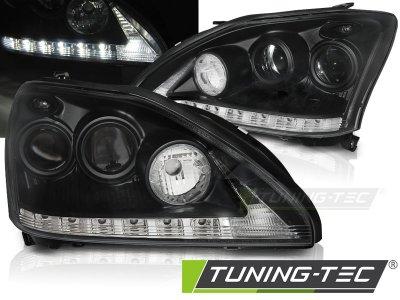Фары передние Daylight Black LED для Lexus RX II 330 / 350