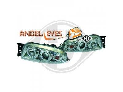 Фары передние Angel Eyes Chrome для Mazda 121 III