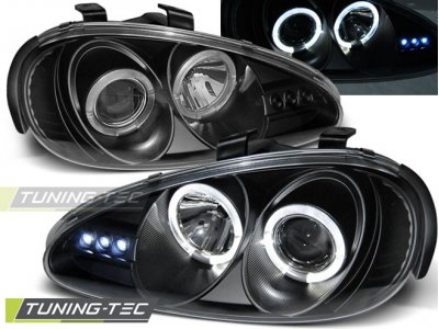 Фары передние Angel Eyes Black для Mazda MX3