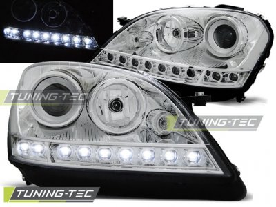 Фары передние Daylight Chrome от Tuning-Tec на Mercedes ML класс W164