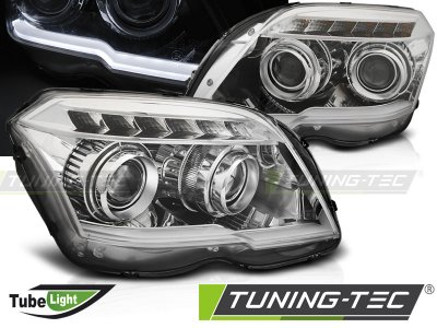 Фары передние TubeLight Chrome от Tuning-Tec на Mercedes GLK класс X204