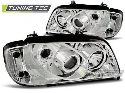 Передние фары Chrome от Tuning-Tec на Mercedes C класс W202