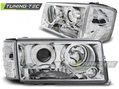 Фары передние Chrome Var2 от Tuning-Tec на Mercedes C класс W201