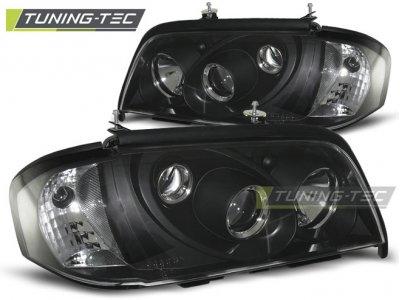 Передние фары Black от Tuning-Tec на Mercedes C класс W202