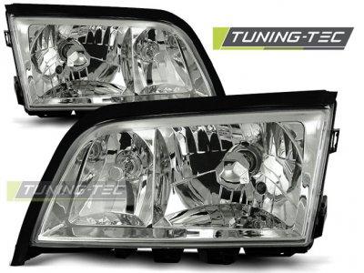 Передние фары Chrome от Tuning-Tec Var3 на Mercedes C класс W202