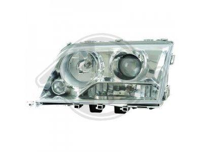 Передняя альтернативная оптика с линзой Chrome на Mercedes C класс W202