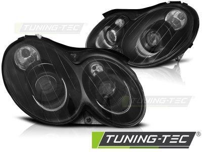 Передняя альтернативная оптика Black от Tuning-Tec на Mercedes CLK класс W209