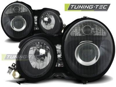 Передняя альтернативная оптика Black от Tuning-Tec на Mercedes E класс W210