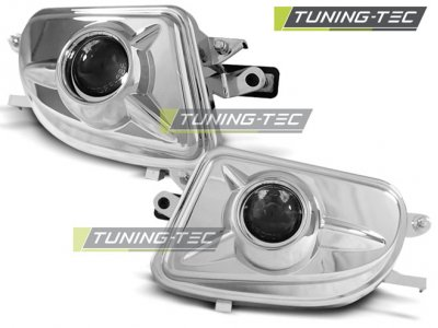 Противотуманные фары с линзой Chrome от Tuning-Tec на Mercedes E класс W210 рестайл