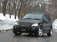 На Mercedes ML класс W163 купить передние альтернативные фары