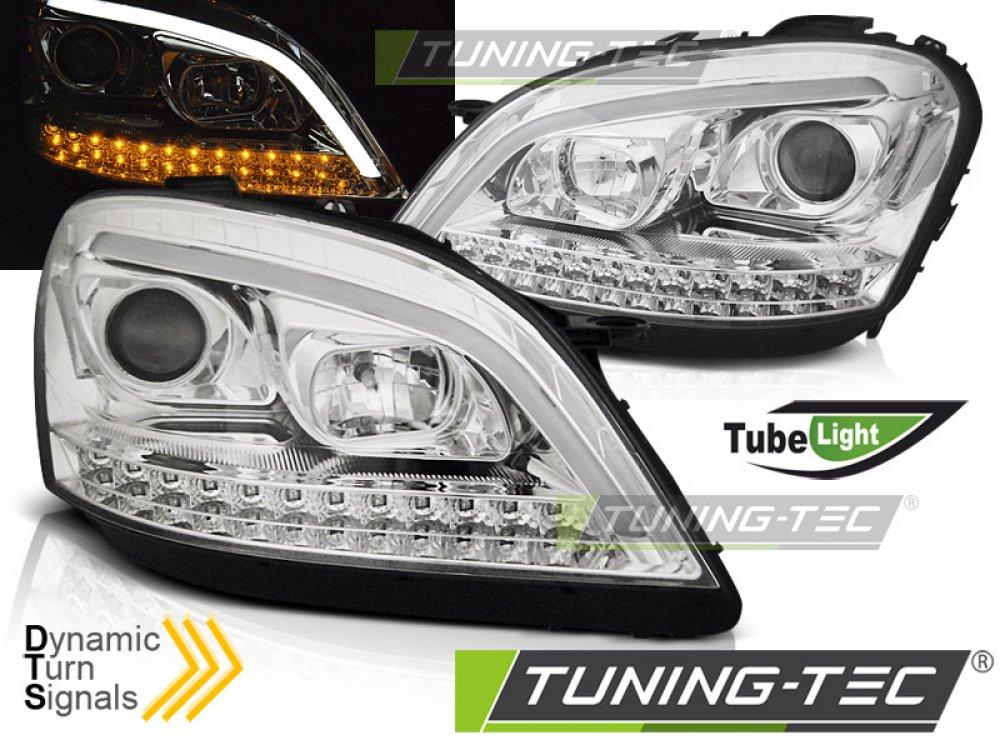 Фары передние Daylight Dynamic Turn Chrome W166 Look от Tuning-Tec на Mercedes ML класс W164