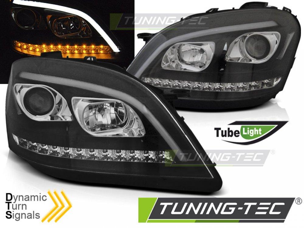 Фары передние Dynamic Turn Black W166 Look от Tuning-Tec на Mercedes ML класс W164