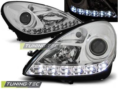 Фары передние Daylight Chrome от Tuning-Tec на Mercedes SLK класс R171