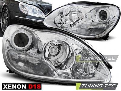 Фары передние Chrome от Tuning-Tec на Mercedes S класс W220 XENON