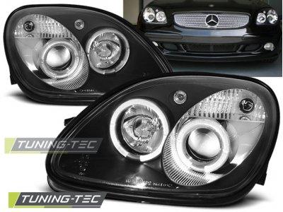 Фары передние Angel Eyes Black от Tuning-Tec на Mercedes SLK класс R170