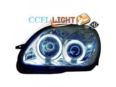 Фары передние CCFL Angel Eyes Chrome на Mercedes SLK класс R170