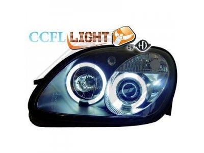 Фары передние CCFL Angel Eyes Black на Mercedes SLK класс R170
