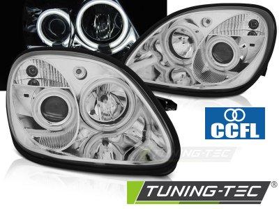 Фары передние CCFL Angel Eyes Chrome от Tuning-Tec на Mercedes SLK класс R170