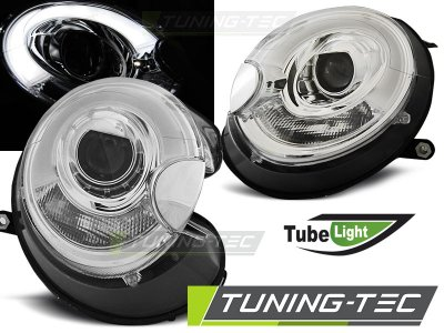 Фары передние Tube Light Chrome от Tuning-Tec на MINI Cooper рестайл