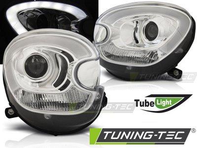 Фары передние Devil Eyes от Tuning-Tec Chrome на MINI Countryman R60