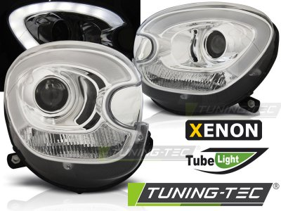 Фары передние Devil Eyes от Tuning-Tec Chrome на MINI Countryman R60 XENON