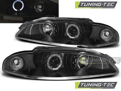Фары передние Angel Eyes Black на Mitsubishi Eclipse II рестайл