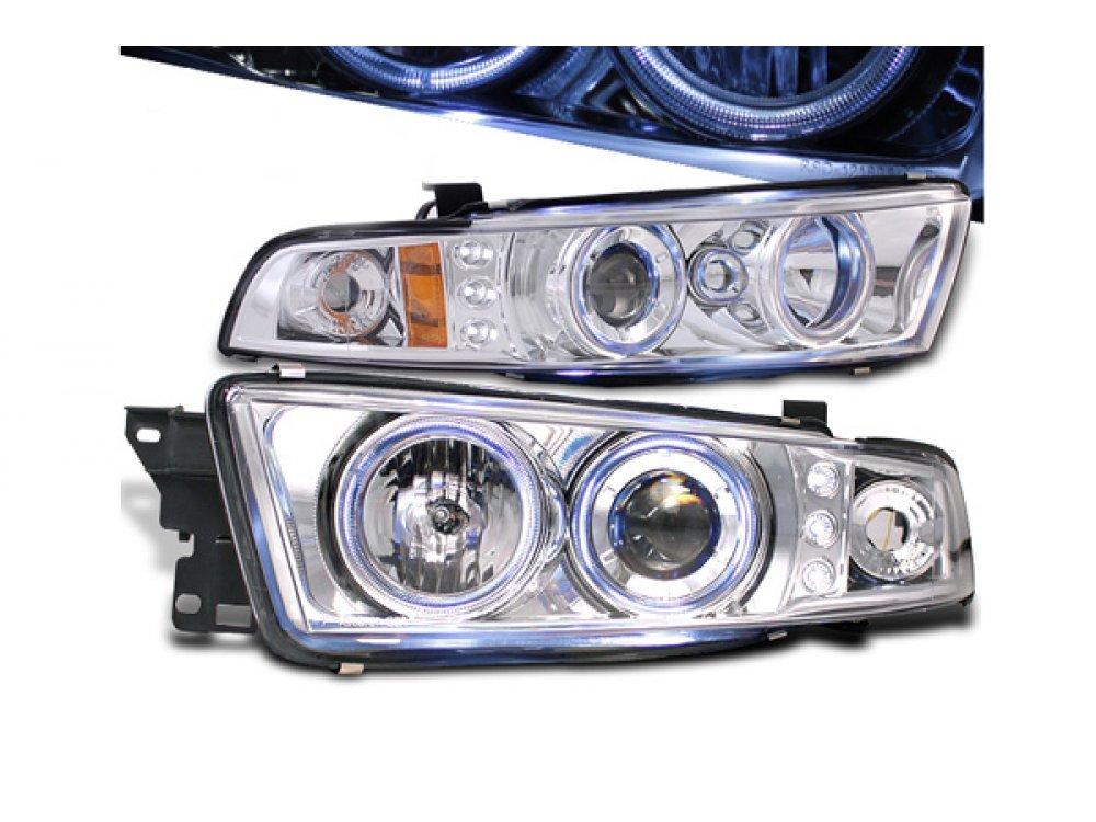 Фары передние LED Angel Eyes Chrome на Mitsubishi Galant VIII USA