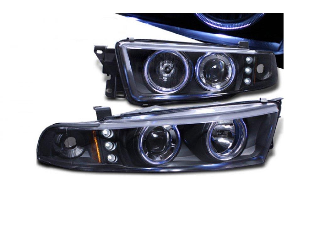Фары передние LED Angel Eyes Black на Mitsubishi Galant VIII USA