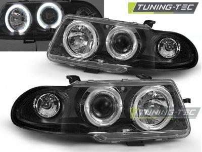 Фары передние LED Angel Eyes Black от Tuning-Tec на Opel Astra F рестайл