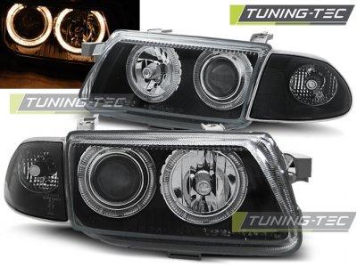 Фары передние Angel Eyes Black от Tuning-Tec на Opel Astra F рестайл