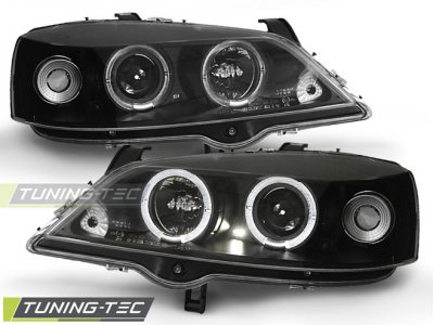 Фары передние LED Angel Eyes Black Var2 от Tuning-Tec на Opel Astra G