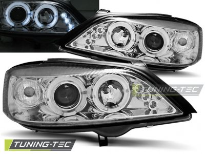 Фары передние LED Angel Eyes Chrome Var2 от Tuning-Tec на Opel Astra G