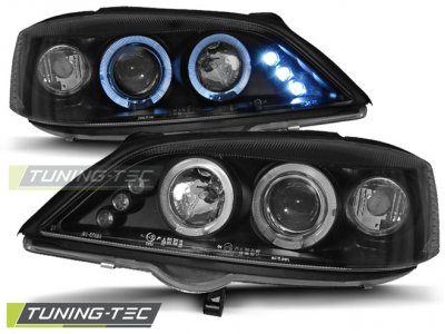 Фары передние LED Angel Eyes Black от Tuning-Tec на Opel Astra G