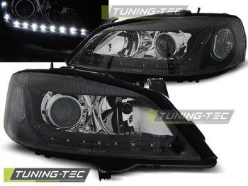 Передние тюнинговые фары Daylight Black от Tuning-Tec на Opel Astra G