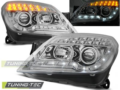 Передние фары Devil Eyes LED Chrome от Tuning-Tec на Opel Astra H