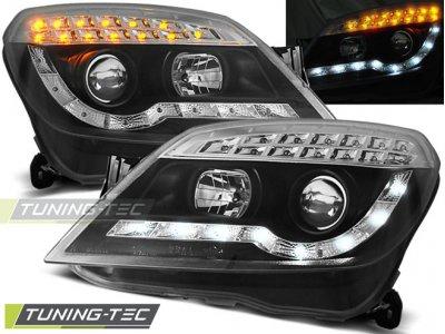 Передние фары Devil Eyes LED Black от Tuning-Tec на Opel Astra H