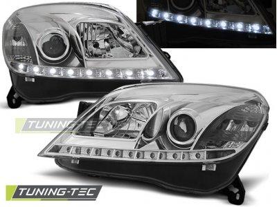 Передние фары Daylight Chrome от Tuning-Tec на Opel Astra H