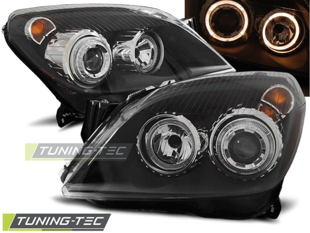 Фары передние Angel Eyes Black от Tuning-Tec на Opel Astra H