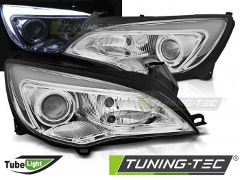 Передняя альтернативная оптика Daylight Chrome от Tuning-Tec на Opel Astra J