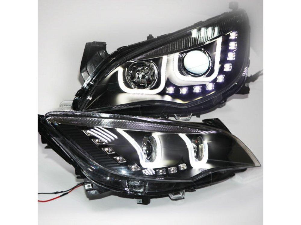 Фары передние LED Devil Eyes Black на Opel Astra J