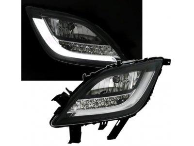 Альтернативные ПТФ LED Black от CarID на Opel Astra J